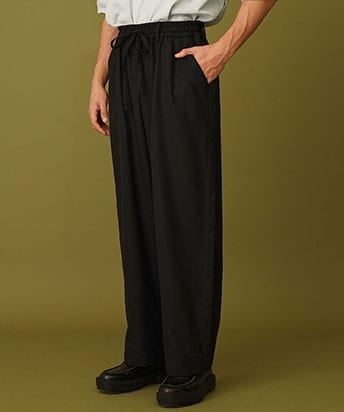 FRENCH SEAM WIDE PANTS