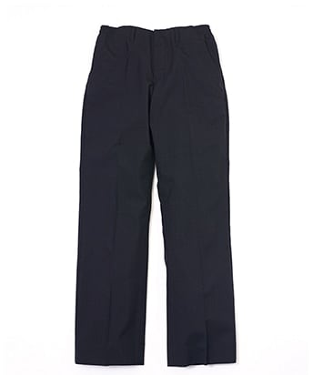 PIN CHECK TROPICAL WOOL STRAIGHT LEG TROUSERS