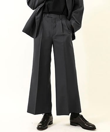 POLY WIDE FLARE PANTS
