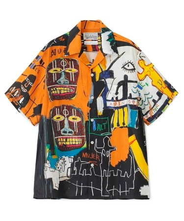 JEAN-MICHEL BASQUIAT / S/S HAWAIIAN SHIRT ( TYPE-4 )