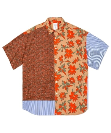 MIX PATTERNED S/S MODERN SHIRT