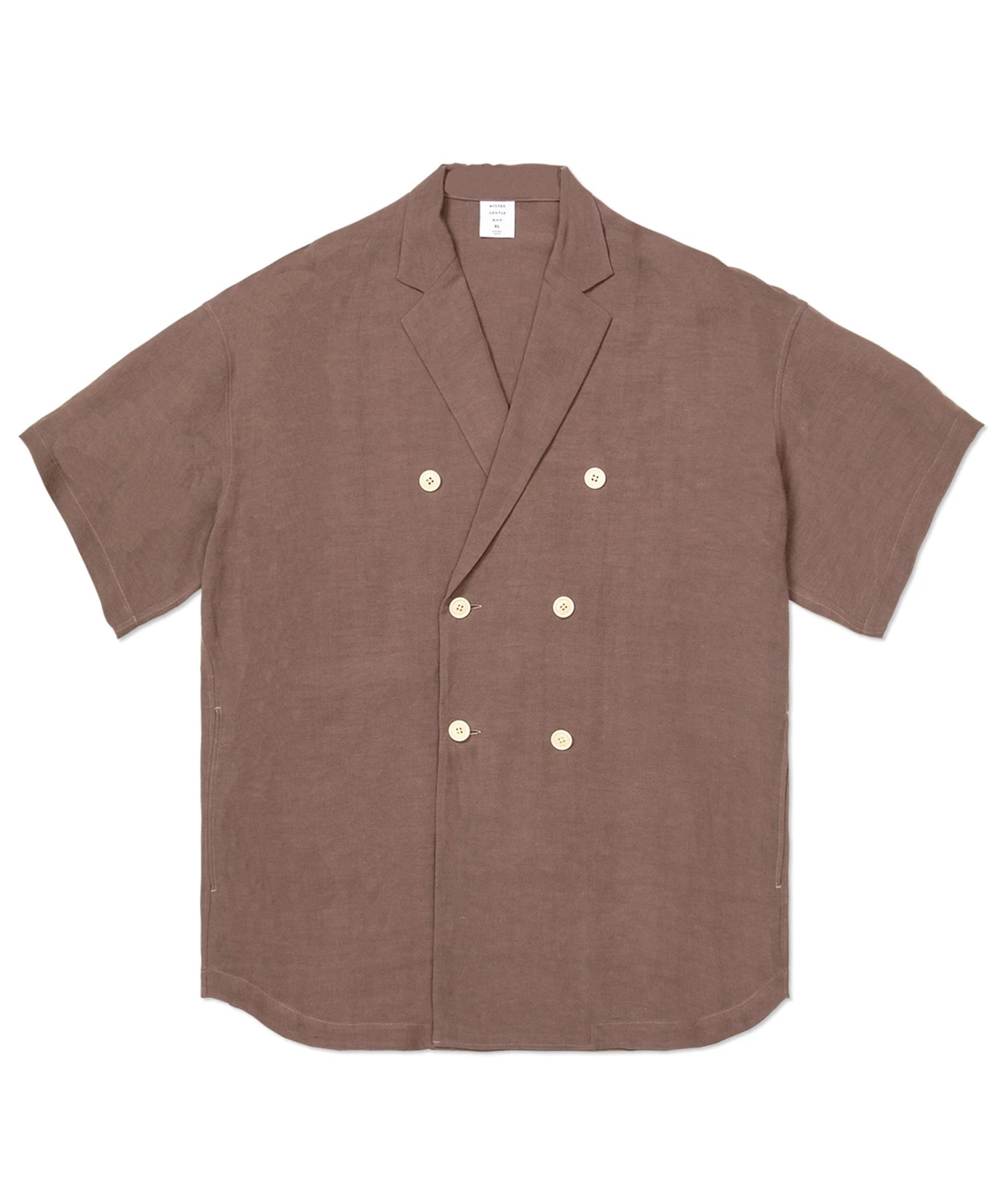 DOUBLE BREASTED S/S SHIRT