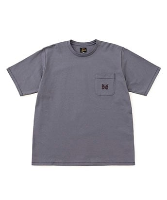 STUDIOUS別注 Papillon Emb.Pocket TEE