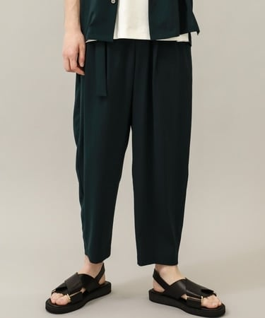 STUDIOUS別注 BELTED WIDE TAPERED SLACKS