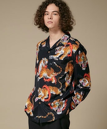 TIM LEHI / L/S HAWAIIAN SHIRT ( TYPE-1 )
