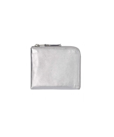 GOLD AND SILVER L ZIP WALLET