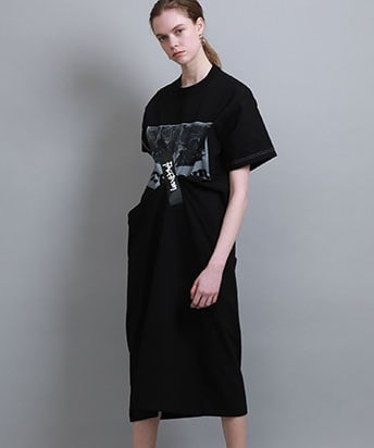 SELLOTAPE T SHIRT DRESS WITH