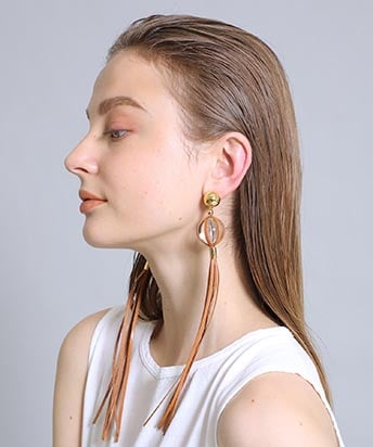【10%OFF】clear ball earring