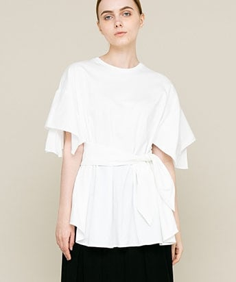 【30%OFF】Layla waist ribbon Tee WH