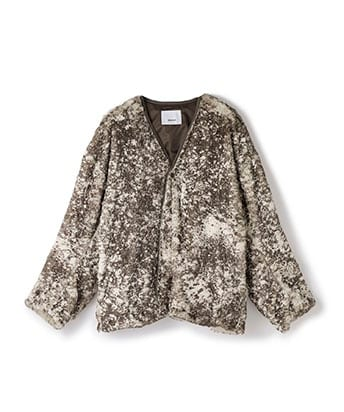 EX.painting sheep boa jacket