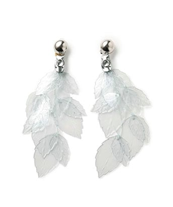 glass leaf earring