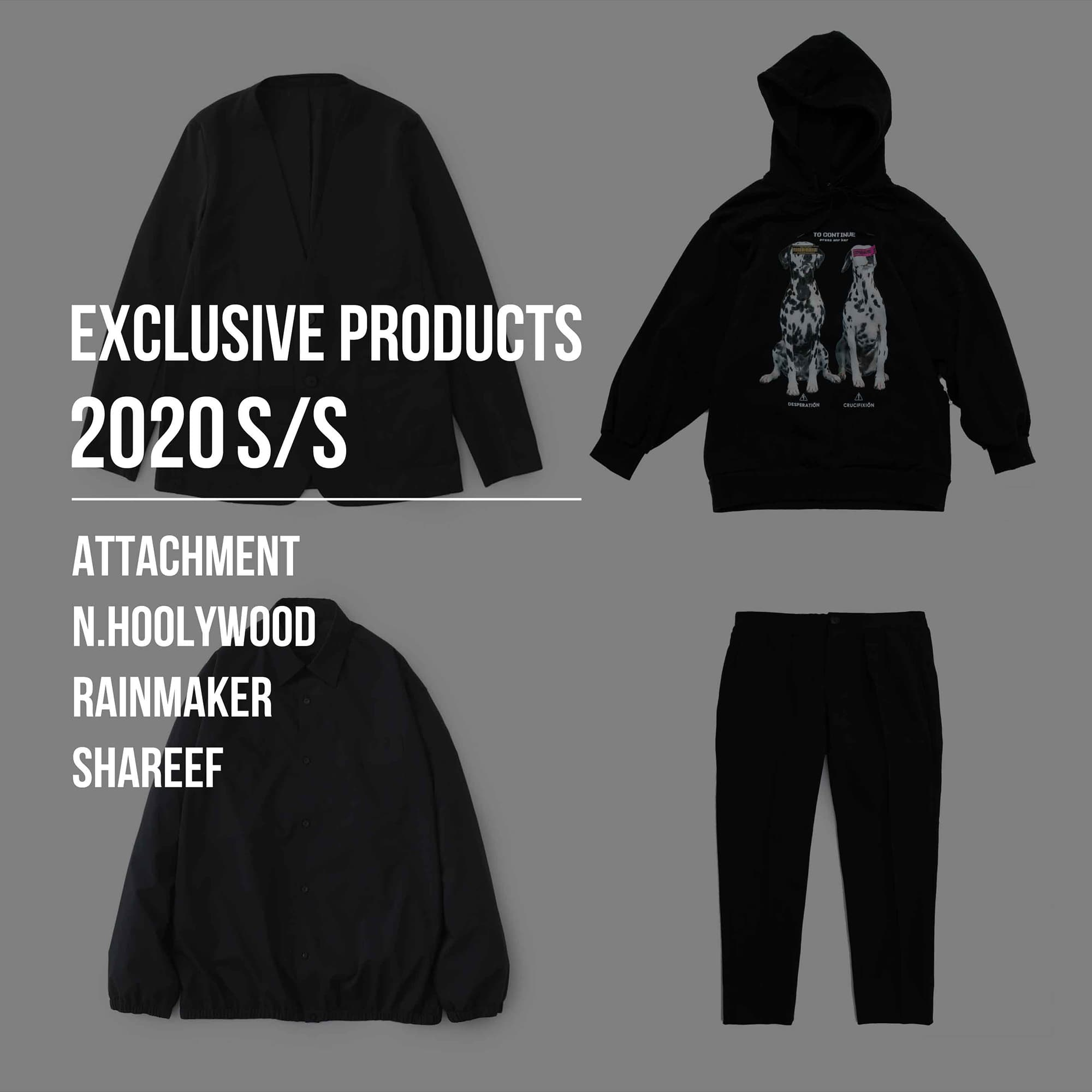 EXCLUSIVE PRODUCTS 2020SS
